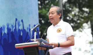 Phó Thủ tướng Trương Hòa Bình xuống đường kêu gọi 'Đã uống rượu bia - Không lái xe'