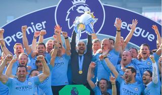 Man City lên ngôi vô địch Premier League sau trận thắng trước Brighton