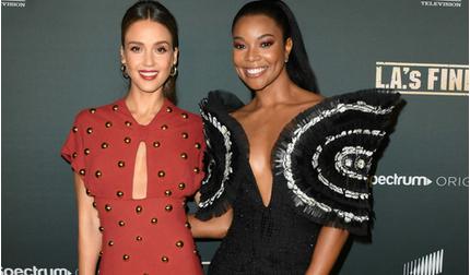 Sao Hollywood, Gabrielle Union diện đồ Công Trí đọ sắc cùng Jessica Alba