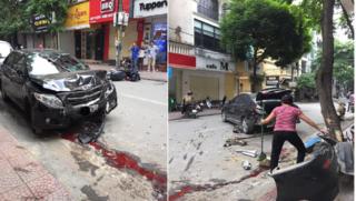 Hình ảnh khiến nhiều người rùng mình sau vụ ô tô tông 2 mẹ con bị thương ở Hà Nội