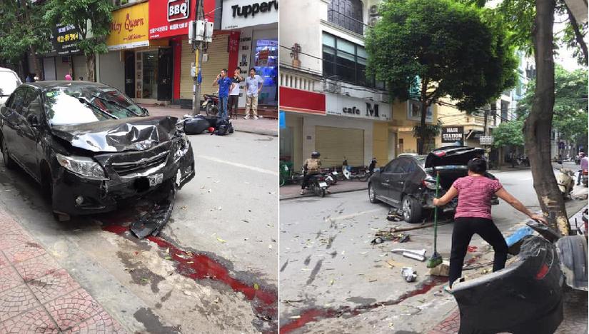 Sự thật bất ngờ về thứ nước đỏ tràn ra từ ô tô sau khi gặp tai nạn