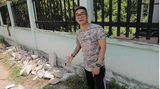 Ca sĩ Khánh Đơn bị chỉ trích khi đến hiện trường vụ 2 xác người đổ bê tông quay video