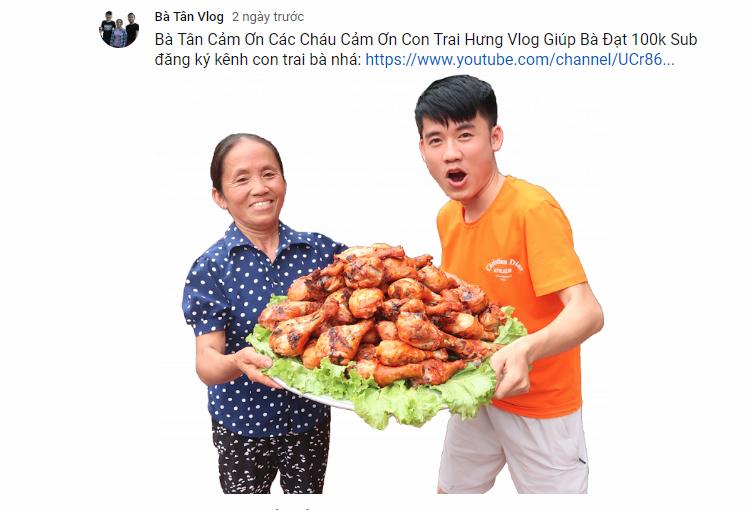 Hưng Vlog - YouTuber đứng sau sự bứt phá mạnh mẽ của bà Tân Vlog