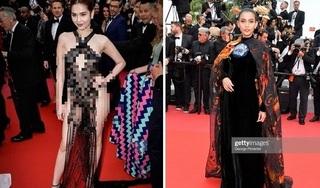 Trái ngược Ngọc Trinh 'mặc như không mặc', Trương Thị May kín như bưng tại LHP Cannes