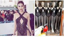Váy phản cảm của Ngọc Trinh tại LHP Cannes được nhái và bán trên mạng
