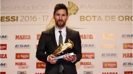 Tiền đạo Messic 6 lần giành danh hiệu Chiếc giày Vàng châu Âu