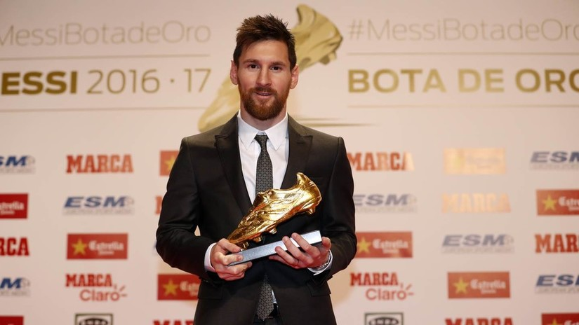 Tiền đạo Messi giành danh hiệu Chiếc giày Vàng châu Âu lần thứ 6