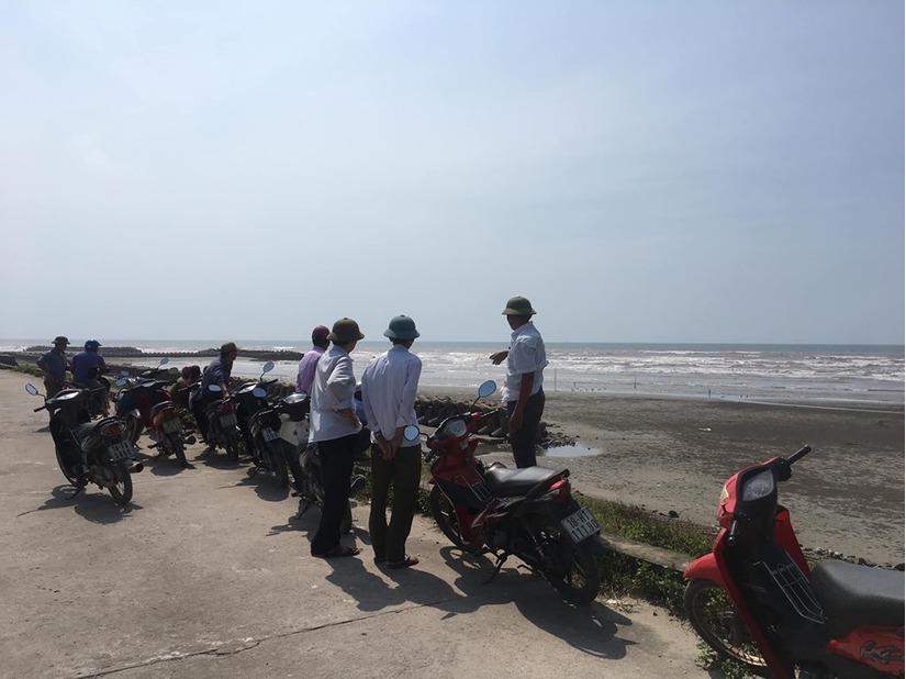 Hiện trường phát hiện thi thể người đàn ông mất đầu tại bờ biển.