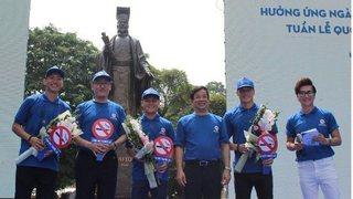 Quang Hải, Tiến Dũng và Đoàn Văn Hậu là đại sứ chương trình Phòng chống tác hại thuốc lá