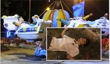 Hà Tĩnh: Bố bị điện giật khi bế con chơi đu quay ở công viên