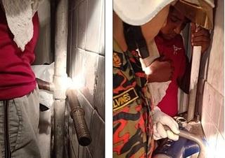 Dùng cưa giải cứu thanh niên 16 tuổi kẹt 'của quý' vào ống nước