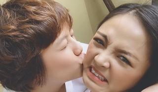 Thu Quỳnh đăng ảnh mặt nhăn nhó khi bị 'cưỡng hôn', khẳng định cằm còn zin