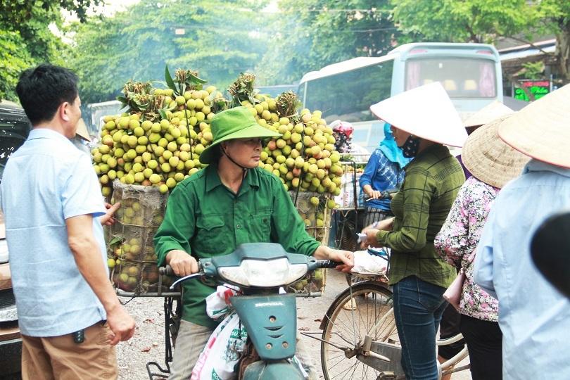 Lượng người bán vải tại thị trấn Kim, Lục Ngạn vắng vẻ, khác hẳn so với mọi năm.