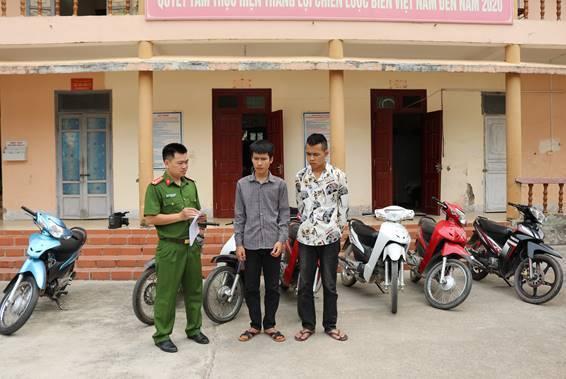Điện Biên: Bắt giữ hai đối tượng trộm cắp 11 chiếc xe máy