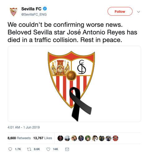 Cựu sao Arsenal qua đời vì tai nạn giao thông