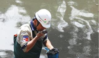 Kết quả bất ngờ sau 3 tuần đặt máy lọc công nghệ Nhật Bản dưới sông Tô Lịch