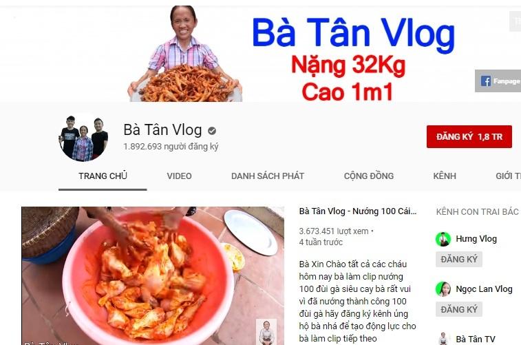 Bà Tân Vlog đã được bật kiếm tiền Youtube, thu nhập 300 triệu/tháng không còn xa