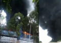 Khu công nghiệp cháy ngùn ngụt giữa trưa nắng gây thiệt hại cả tỷ đồng