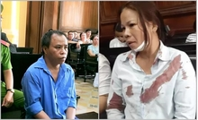 Vợ bị đánh ngất xỉu tại phiên tòa xử chồng tội g.iết n.gười