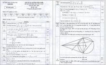 Đáp án chuẩn 3 môn thi vào lớp 10 trường công lập tại Nam Định năm 2019