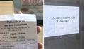Tài xế Grab bức xúc vì bị các cửa hàng dán thông báo 'kỳ thị'