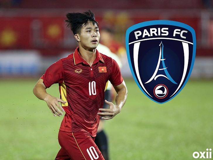 Tiền đạo Công Phượng sẽ thử việc tại CLB Paris FC trong ít ngày tới