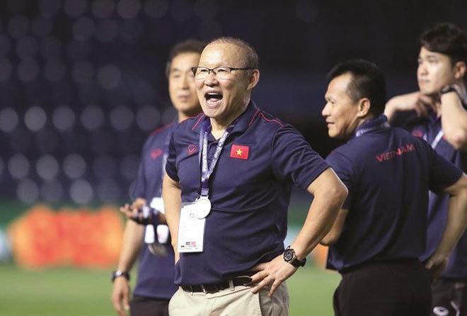 HLV Park Hang Seo đang rất thành công cùng bóng đá Việt Nam
