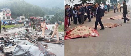 Xe khách gặp nạn ở Hòa Bình và xe tông 7 người đi đám ma chết ở Vĩnh Phúc cùng 1 chủ