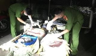 Lạng Sơn: Liên tục bắt quả tang hàng trăm kg nầm lợn thối gần biên giới