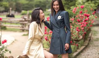 Hoa hậu Hà Kiều Anh cùng Dương Mỹ Linh diện trang phục công sở thanh lịch