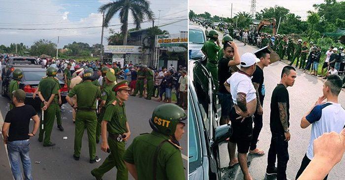 Xác định được 10 đối tượng trực tiếp vây xe chở công an, gây rối trật tự công cộng