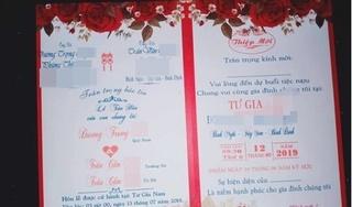 Thiệp cưới 1 chú rể hai cô dâu và sự thật khiến dân mạng ngã ngửa