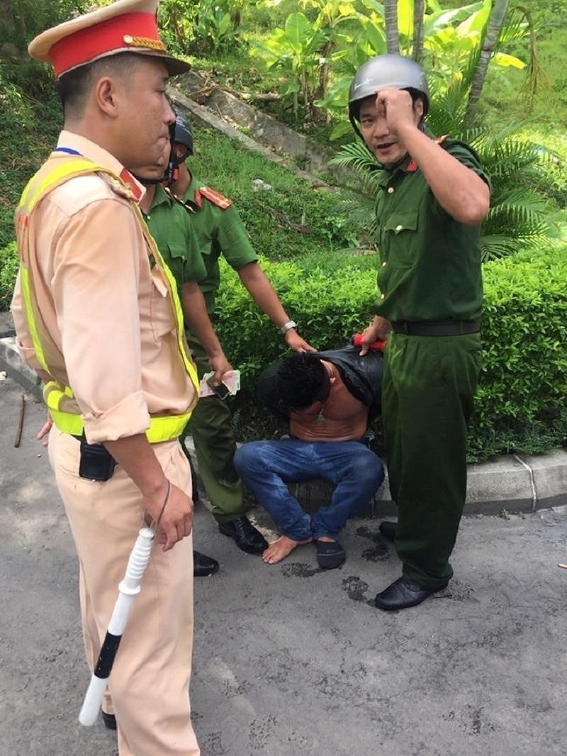 Bắt tài xế nghi ngáo đá gây tai nạn liên hoàn ở Hầm Hải Vân