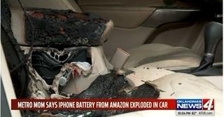 Cháy ô tô do pin iPhone tự nổ bên trong xe