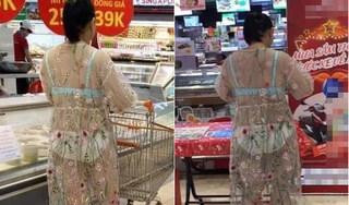 Hoảng hồn với chiếc váy xuyên thấu 'mặc cũng như không' của vị khách nữ