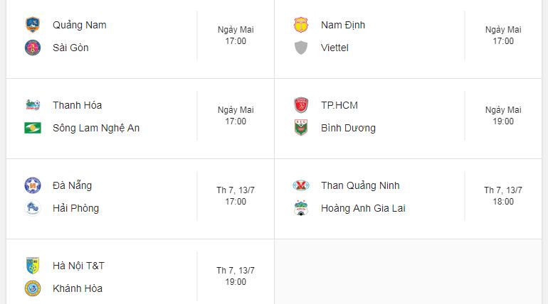Lịch thi đấu vòng 15 V.League