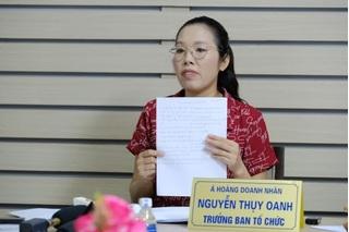 Chân dung Nguyễn Thuỵ Oanh, Trưởng ban tổ chức