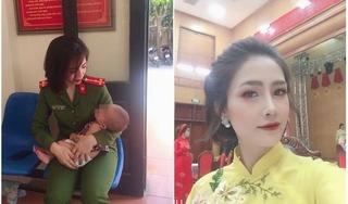 Hình ảnh đời thường xinh đẹp của nữ công an giải cứu bố con định tự tử ở Nhật Tân