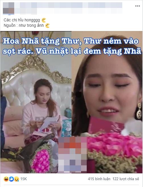 'Về nhà đi con': Dân mạng tinh ý phát hiện Vũ tiết kiệm tiền khi mua hoa tặng Nhã