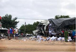 Danh tính 2 tài xế tử nạn vụ xe khách đối đầu xe tải kinh hoàng ở Bình Thuận