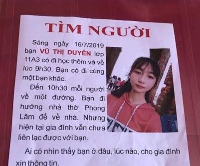 Nữ sinh mất tích sau buổi học thêm ở Nam Định: Nhiều người báo tin nhưng gia đình tôi chưa thấy cháu