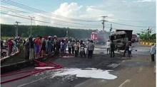Danh tính hai cha con chết cháy trong vụ xe bồn và xe ben cháy rụi sau va chạm