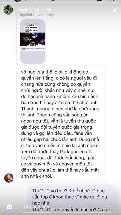 Người yêu hậu vệ CLB Hà Nội sợ không dám về nước vì lỡ chửi Văn Thanh