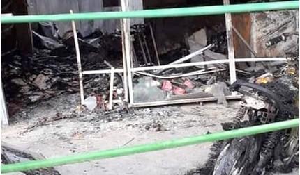 Mẹ đơn thân bị ném 'bom xăng' đốt rụi cửa hàng và gây bỏng nặng
