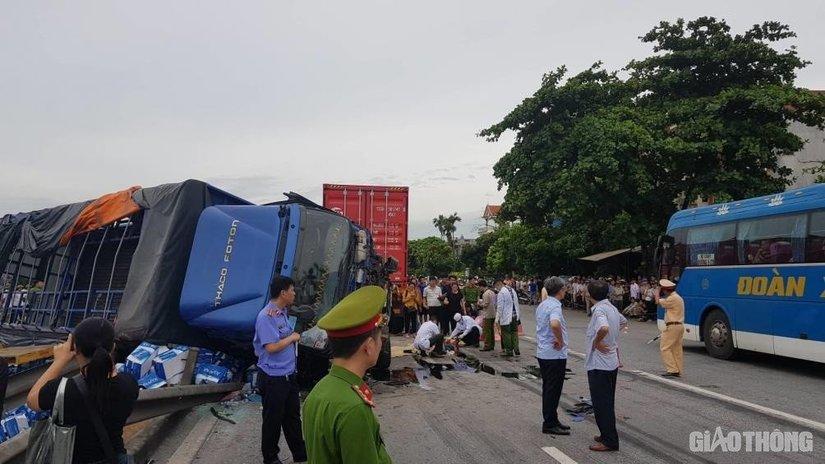 Danh tính tài xế xe tải bị lật đè chết 5 người ở Hải Dương