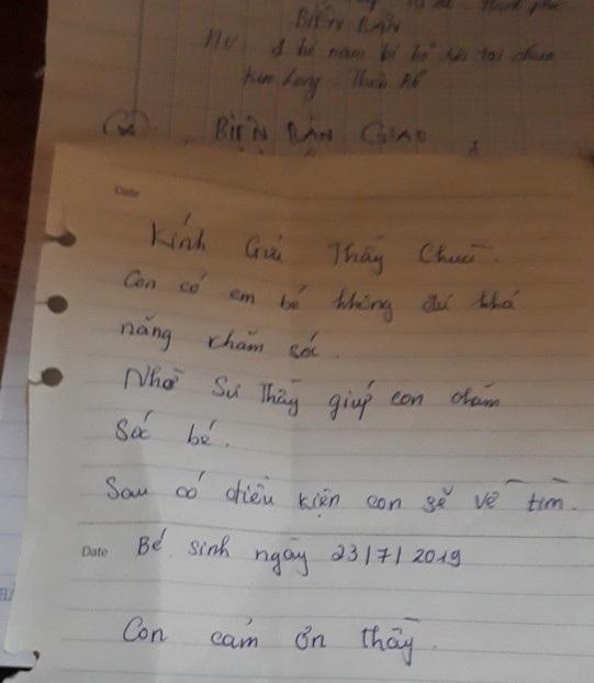 Hải Phòng: Bé trai sơ sinh bị bỏ rơi tại cổng chùa kèm lá thư Nhờ nhà chùa nuôi giúp
