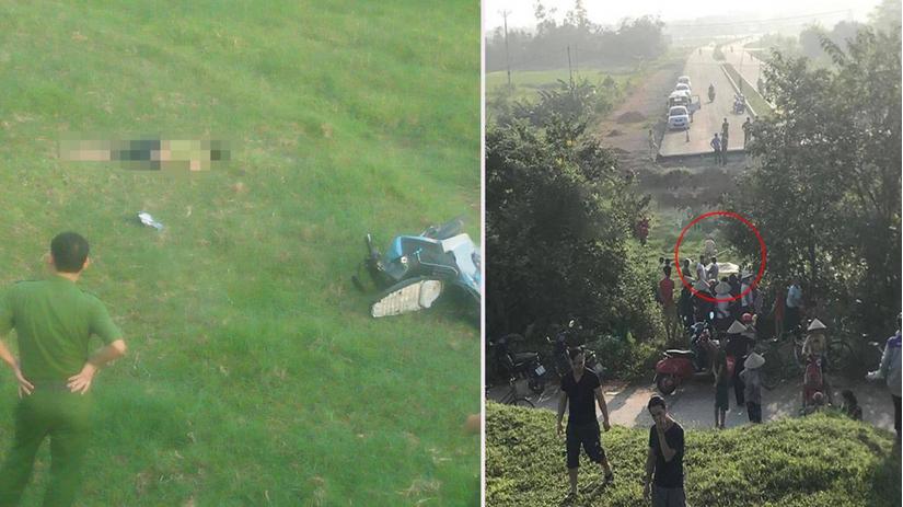 Chết bất thường trên con đường đang thi công dang dở ở Vĩnh Phúc