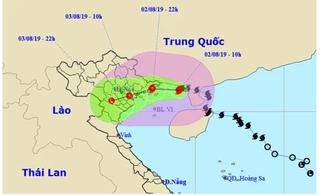 Bão số 3 giật cấp 12 đổ bộ Quảng Ninh-Nam Định từ đêm 2/8, mưa to diện rộng