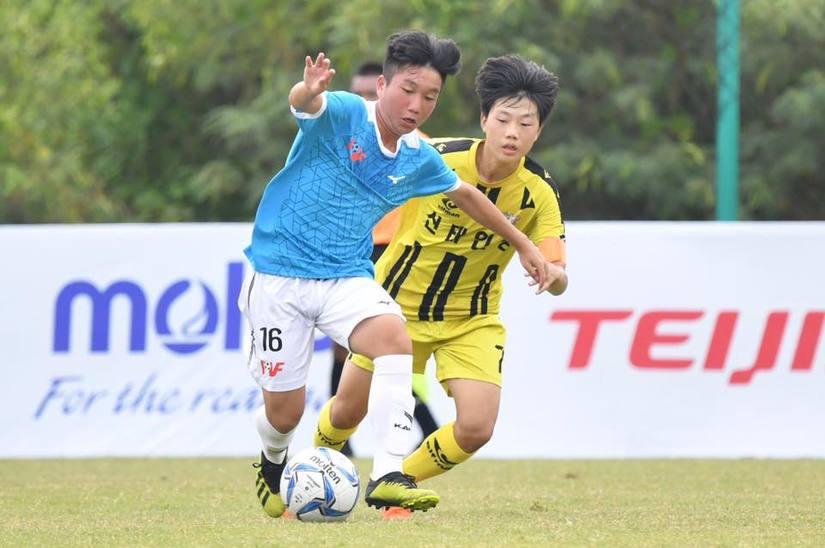 đội tuyển U15 PVF đã để thua đáng tiếc trước U15 Chiangrai trên chấm luân lưu