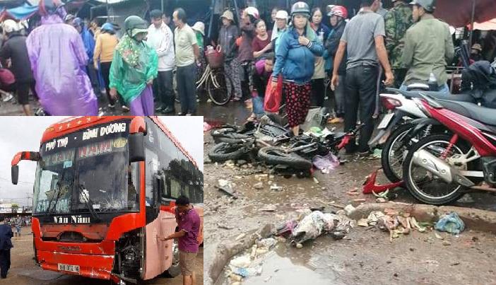 Tốc độ của xe khách lao vào chợ tông 4 người tử vong trước khi mất dữ liệu